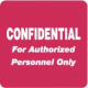 HIPAA Labels, Confidential Authorized Personnel Only - Red, 2&#34 X 2&#34 (Roll of 500)
