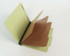 25 Pt. Pressboard Classification Folders, 2/5 Cut ROC Top Tab, Letter Size, 3 Dividers, Peridot Green (Box of 10)