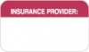 Insurance Labels, INSURANCE PROVIDER - Red/White, 1-1/2&#34 X 7/8&#34 (Roll of 250)
