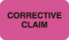 Insurance Collection Labels, CORRECTIVE CLAIM - Fl Pink, 1-1/2&#34 X 7/8&#34 (Roll of 250)
