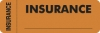 Insurance Labels, INSURANCE - Fl Orange (Wrap-around), 3&#34 X 1&#34 (Roll of 250)