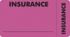 Insurance Labels, INSURANCE - Fl Pink (Wrap-Around), 3-1/4&#34 X 1-3/4&#34 (Roll of 250)
