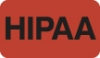 HIPAA Labels, HIPAA - Red, 1-1/2&#34 X 7/8&#34 (Roll of 250)
