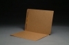 11 pt Brown Kraft Folders, SFI Compatible, Full Cut End Tab, Letter Size, Fastener Pos #1 (Box of 50)