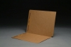 11 pt Brown Kraft Folders, SFI Compatible, Full Cut End Tab, Letter Size, Fastener Pos #1 & #3 (Box of 50)