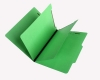 15 Pt. Green Classification Folders, 2/5 Cut ROC Top Tab, Letter Size, 2 Dividers (Box of 25)