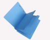 15 Pt. Blue Classification Folders, Full Cut End Tab, Letter Size, 2 Dividers (Box of 25)