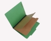 25 Pt. Pressboard Classification Folders, 2/5 Cut ROC Top Tab, Letter Size, 2 Dividers, Emerald Green (Box of 15)