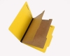 25 Pt. Pressboard Classification Folders, 2/5 Cut ROC Top Tab, Letter Size, 2 Dividers, Bright Yellow (Box of 15)