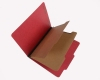 25 Pt. Pressboard Classification Folders, 2/5 Cut ROC Top Tab, Letter Size, 2 Dividers, Ruby Red (Box of 15)