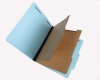 25 Pt. Pressboard Classification Folders, 2/5 Cut ROC Top Tab, Letter Size, 2 Dividers, Blue (Box of 15)