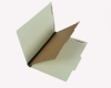 25 Pt. Pressboard Classification Folders, 2/5 Cut ROC Top Tab, Legal Size, 1 Divider, Green (Box of 20)