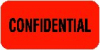 "HIPAA Labels, Confidential - Red, 1.5"" X .75"" (Roll of 250)"