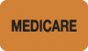 "Insurance Labels, MEDICARE - Fl Orange, 1-1/2"" X 7/8"" (Roll of 250)"