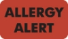 "Allergy Warning Labels, Allergy Alert - Fl Red, 1-1/2"" X 7/8"" (Roll of 250)"