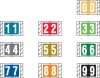 "Col'R'Tab Compatible Numeric Labels, Laminated Stock, 1"" X 1-1/2"" Individual Numbers - Roll of 500"