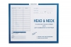 "Head & Neck, Process Blue - Category Insert Jackets, System I, Open Top - 14-1/4"" x 17-1/2"" (Carton of 250)"