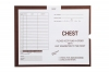 "Chest, Brown #168 - Category Insert Jackets, System I, Open End - 14-1/4"" x 17-1/2"" (Carton of 250)"