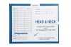 "Head & Neck, Process Blue - Category Insert Jackets, System I, Open End - 14-1/4"" x 17-1/2"" (Carton of 250)"
