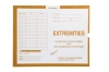 "Extremities, Yellow #109 - Category Insert Jackets, System I, Open Top - 14-1/4"" x 17-1/2"" (Carton of 250)"