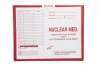 "Nuclear Medicine, Red #185 - Category Insert Jackets, System I, Open Top - 14-1/4"" x 17-1/2"" (Carton of 250)"