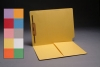 11 pt Color Folders, Full Cut End Tab, Letter Size, 1/2 Pocket Inside Front, Fastener Pos #1 (Box of 50)