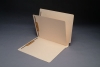 11 Pt. Manila Folders, Full Cut End Tab, Letter Size, 1 Divider Installed (Box of 40)