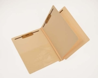 14 Pt. Manila Classification Folders, Full Cut End Tab, Letter Size, Poly Pocket Inside Front, 1 Divider (Box of 25)