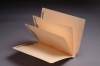 14 Pt. Manila Folders, Full Cut End Tab, Letter Size, 2 Dividers Installed (Box of 25)