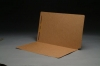 17 pt Brown Kraft Folders, SFI Compatible, Full Cut End Tab, Legal Size, Drop Front, Fastener Pos #1 (Box of 50)