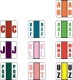 "POS Compatible Random Alpha Labels, Laminated Stock, 1-1/2"" X 1-1/2"", Starter Set - 10 Rolls of 500"