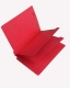 15 Pt. Red Classification Folders, Full Cut End Tab, Letter Size, 2 Dividers (Box of 25)