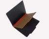 25 Pt. Fushion Black Pressboard Classification Folders, 2/5 Cut ROC Top Tab, Letter Size, 1 Divider, Orange Tyvek (Box of 20)