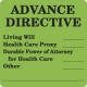 "Chart Labels, ADVANCE DIRECTIVE - Fl Green, 2-1/2"" X 2-1/2"" (Roll of 390)"
