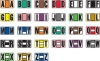 "Jeter 7700 Compatible Alpha Labels, Laminated Stock, 15/16"" X 1-5/8"" Individual Letters - Roll of 500"